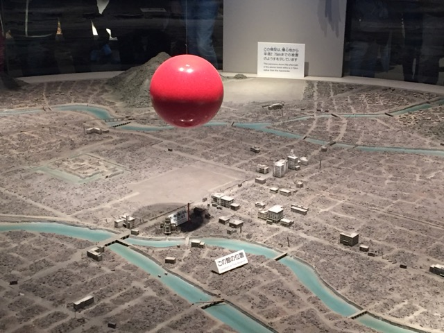 Model of Hiroshima destroyed