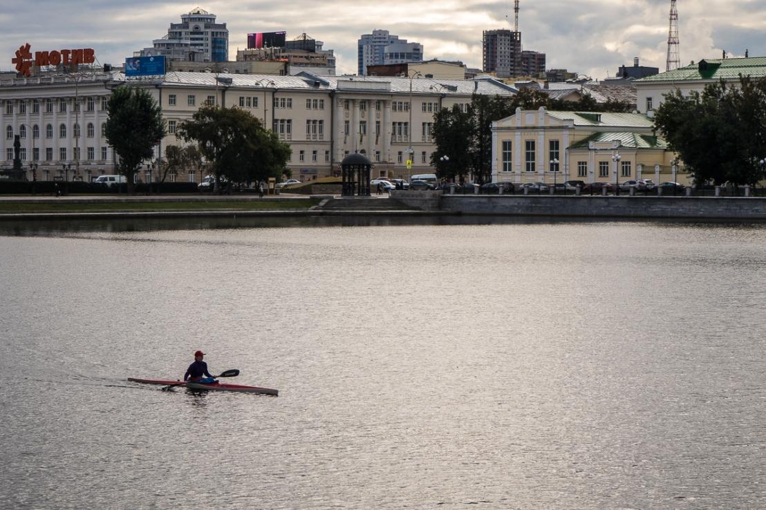 Kayaking on the Iset river