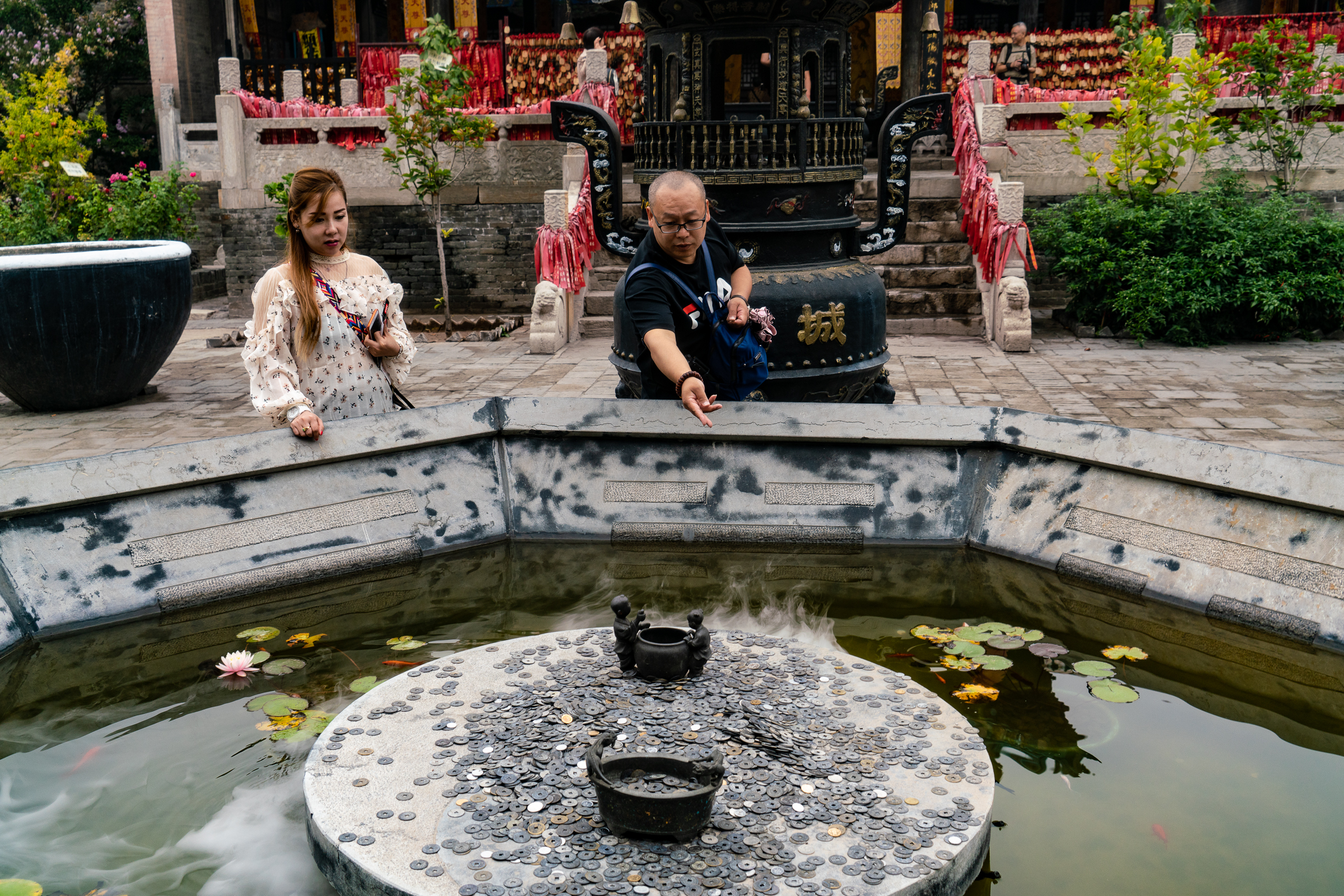 Confucius Shrine fountain