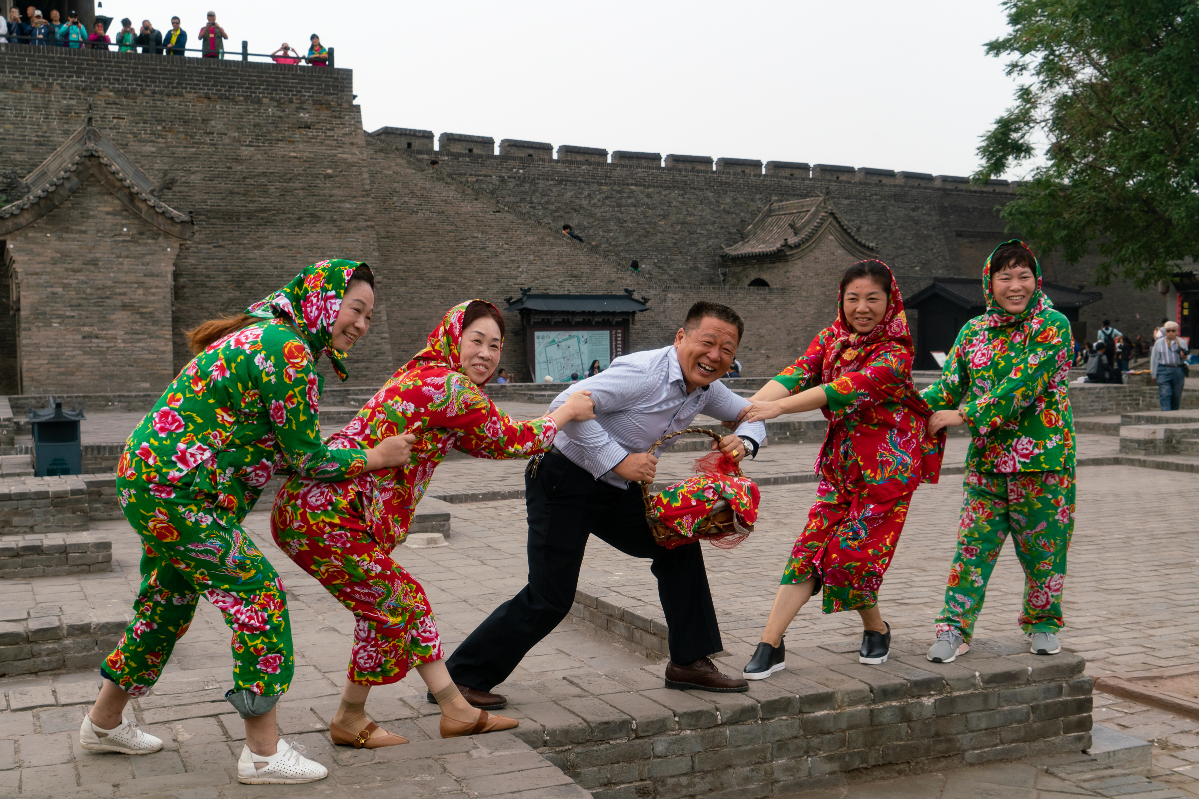 Fun outside Pingyao city walls