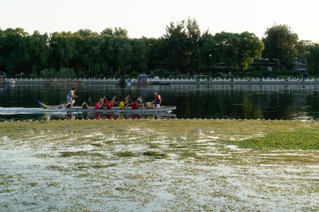 Houhai lake - training for rowing race