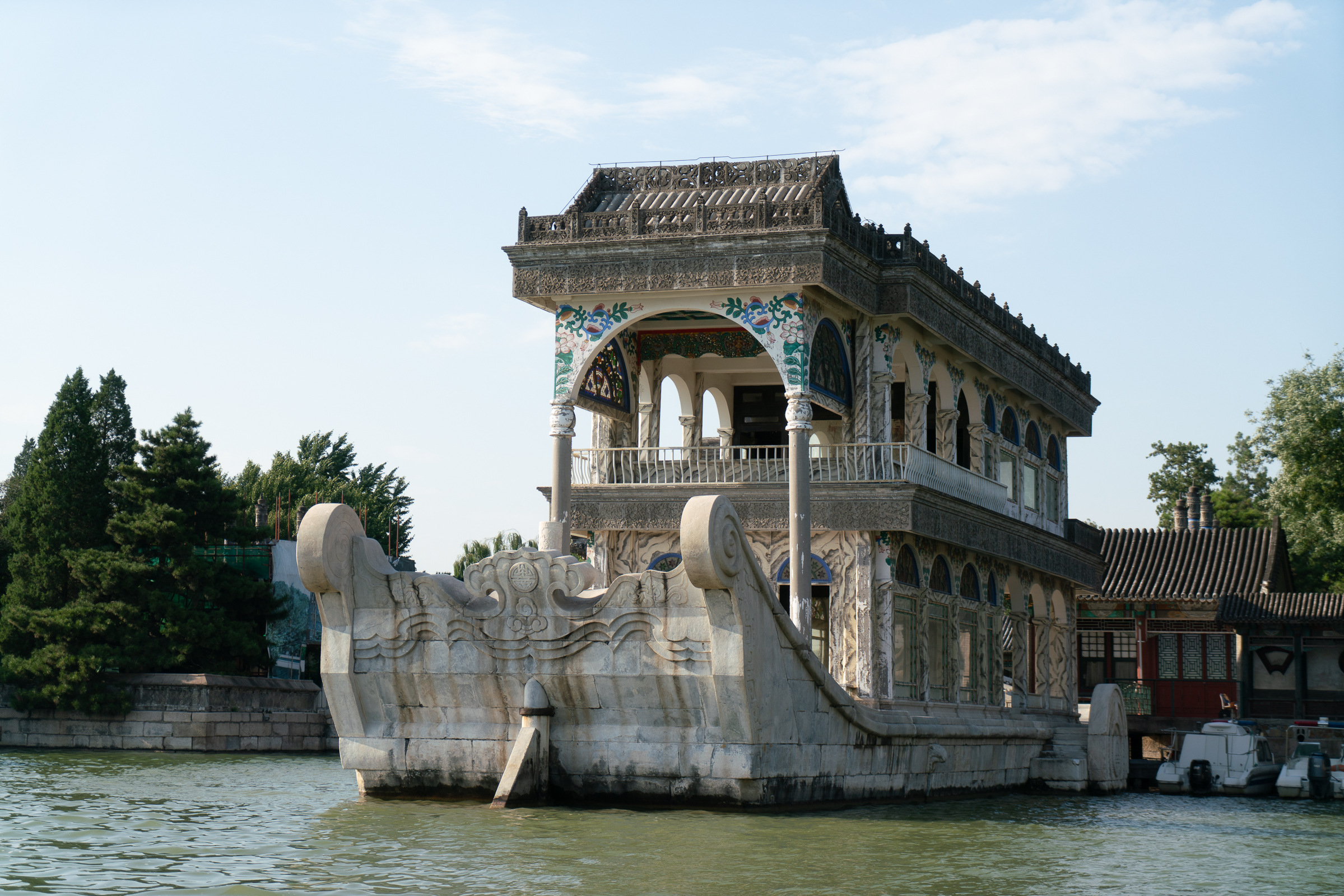 Summer Palace - marble river boat
