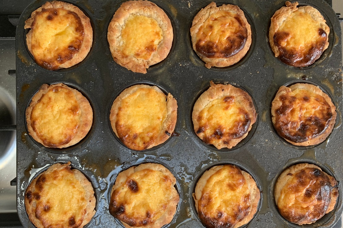 Around the world in 80 bakes, no.21: Pastéis de nata fromPortugal