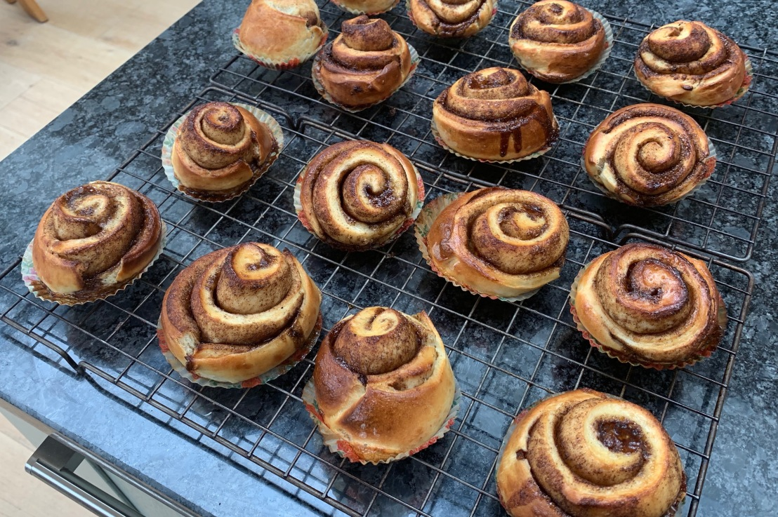 Around the world in 80 bakes, no.31: Kanelbullar –  cinnamon buns from Sweden