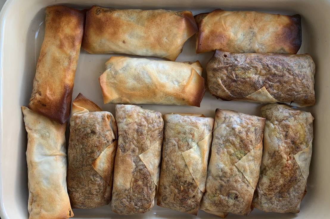 Around the world in 80 bakes, no.56: baked spring rolls from Malaysia